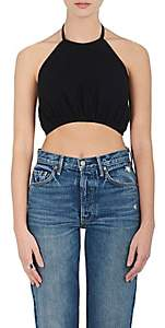 3x1 WOMEN'S HALTER CROP TOP - BLACK SIZE M 00505050348305