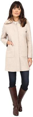 Lauren Ralph Lauren Faux Fur Collar Zip Front Novelty Women's Coat