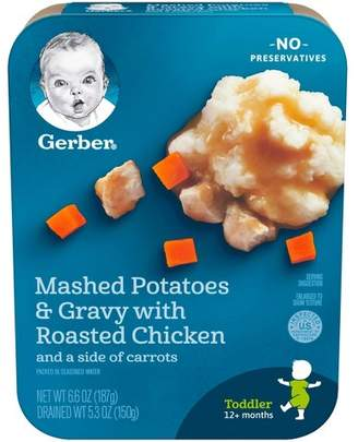 Gerber Lil' Entrees, Mashed Potatoes and Gravy with Roasted Chicken with Carrots - 6.6oz