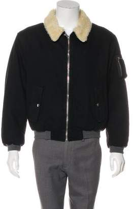 Gosha Rubchinskiy Sherpa-Lined Bomber Jacket