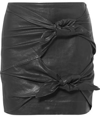 Etoile Isabel Marant Gritanny Leather Mini Skirt - Black