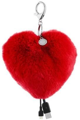 Rebecca Minkoff Heart Shaped Power Puff Keychain