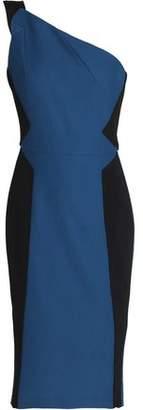 Roland Mouret One-Shoulder Cotton-Piqué And Crepe Dress