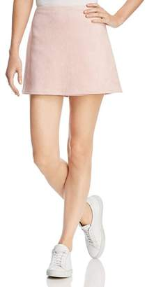 French Connection Suedette A-Line Mini Skirt