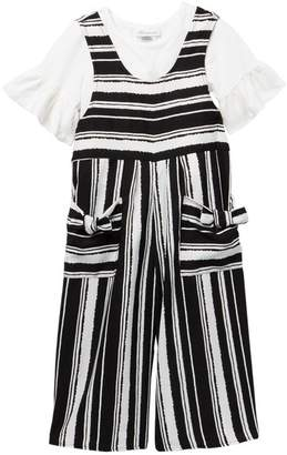 Iris & Ivy Crop Top & Striped Jumpsuit Set (Big Girls)