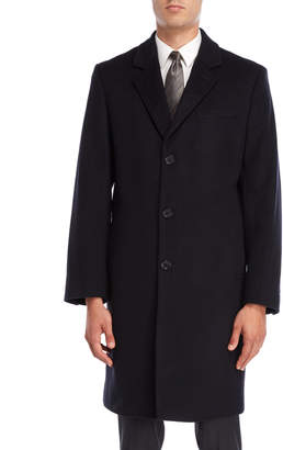 Michael Kors Navy Wool Coat
