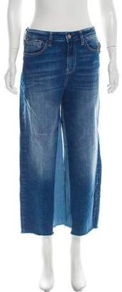 Mavi Jeans Two-Tone High-Rise Flared Jeans w/ Tags