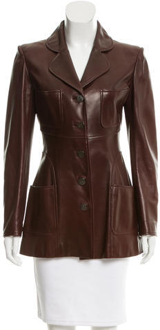 ChanelChanel Leather Fitted Jacket
