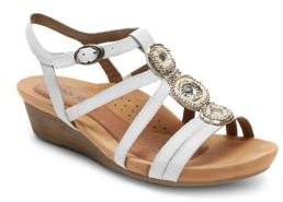 Rockport Hannah T-Strap Cage Wedge Sandals