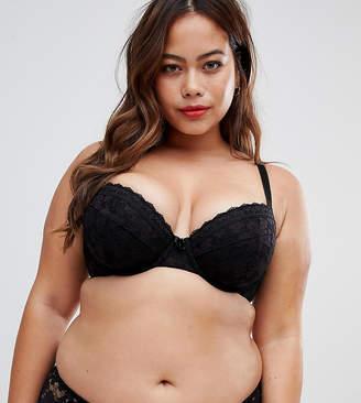 5ac45031f45 New Look Plus Curve essentials lace padded bra in black