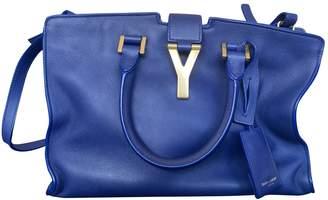 Saint Laurent Chyc Blue Leather Handbags