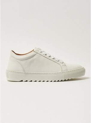 Topman Mens White Leather Upper Astro Lace Trainers