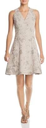 T Tahari Annalise Floral Fit-and-Flare Dress