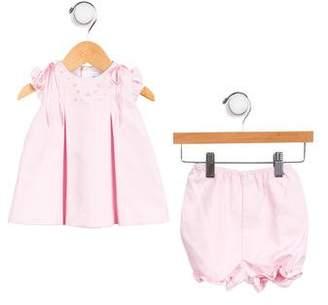 Luli & Me Girls' Short Sleeve Bloomer Set w/ Tags