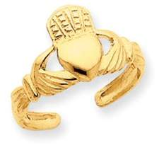 Black Bow Jewelry Company Claddagh Toe Ring in 14K Yellow Gold
