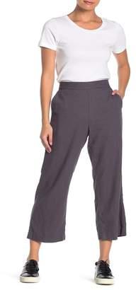Caslon Linen Blend Wide Leg Crop Pants (Regular & Petite)