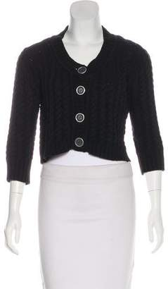 Burberry Button-Up Knit Cardigan
