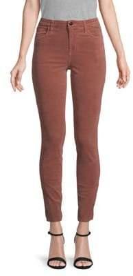 J Brand Maria High-Rise Velvet Skinny Jeans