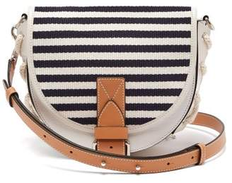 J.W.Anderson Bike Breton Stripe Leather Cross Body Bag - Womens - White Multi