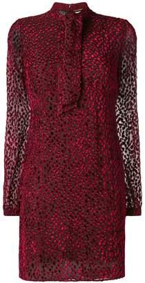 Saint Laurent Devore Mini Dress