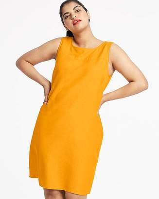 Capsule Saffron Easycare V Back Linen Dress
