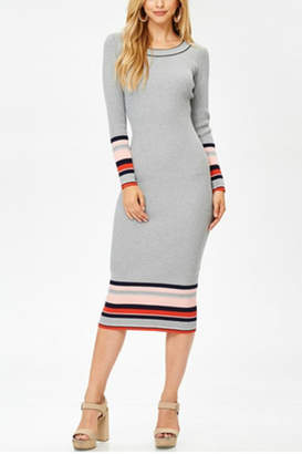Towne Striped Midi Dress