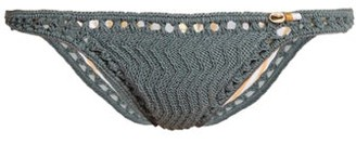 She Made Me Laharia Mini Hipster Crochet Bikini Briefs - Womens - Grey