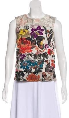 Dries Van Noten Sleeveless Floral Print Top