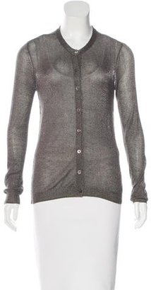 Inhabit Metallic Button-Up Cardigan w/ Tags $80 thestylecure.com