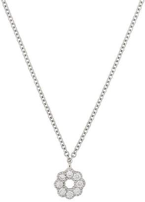 Bony Levy 18K White Gold Diamond Flower Pendant Necklace - 0.09 ctw