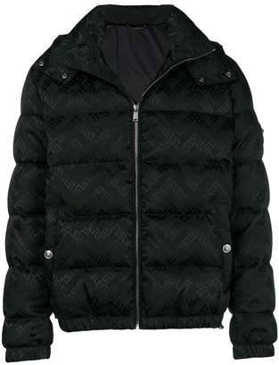 Versace Greek Key print puffer jacket
