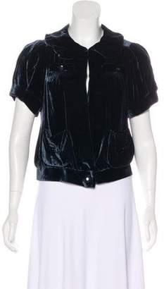 Marc by Marc Jacobs Velvet Short Sleeve Jacket