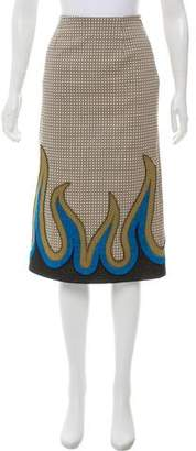 Mary Katrantzou 2016 Sigma Flame Skirt