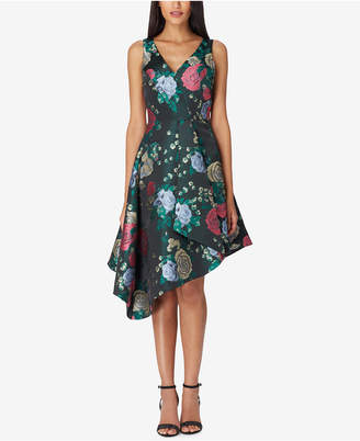Tahari ASL Asymmetrical Jacquard Dress