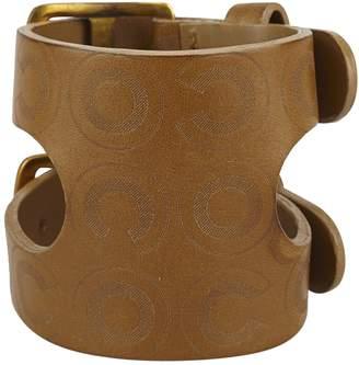 Chanel Vintage Brown Leather Bracelets