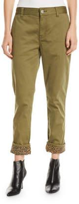 Current/Elliott The Confidant Twill Straight-Leg Pants