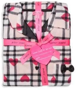 Betsey Johnson Two-Piece Heart & Plaid Pajama Set
