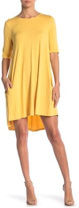 Philosophy di Lorenzo Serafini Elbow Sleeve Knit Swing Dress