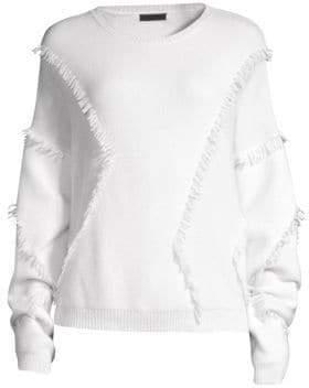 ATM Anthony Thomas Melillo Merino Wool Fringe Sweater