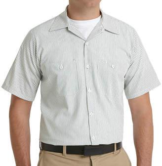 JCPenney Red Kap SP20 Micro-Check Uniform Shirt-Big & Tall