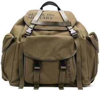 Neil Barrett multiple buckle pockets backpack