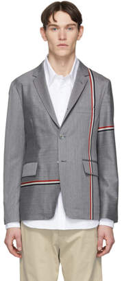 Thom Browne Grey Unconstructed Classic Blazer