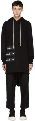 Rick Owens Black Patch Pullover Hoodie