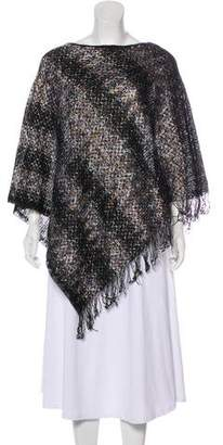 Missoni Knit Patterned Poncho w/ Tags