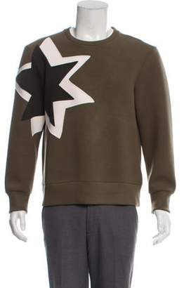 Neil Barrett Star Embroidered Crew Neck Sweater olive Star Embroidered Crew Neck Sweater