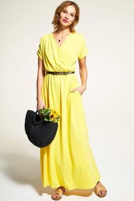 6f95e044d Hot Squash Womens HotSquash Yellow Maxi Dress - Yellow