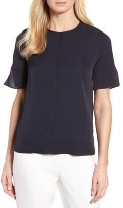 Women's Nordstrom Signature Short Sleeve Silk Blouse $199 thestylecure.com
