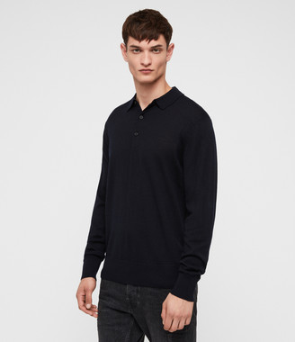 AllSaints Lang Merino Polo Shirt