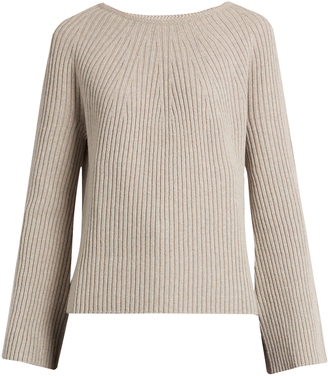 HELMUT LANG Flared-sleeve wool and cashmere-blend sweater $395 thestylecure.com