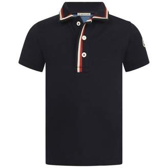 Moncler MonclerBaby Boys Navy Blue Pique Polo Top